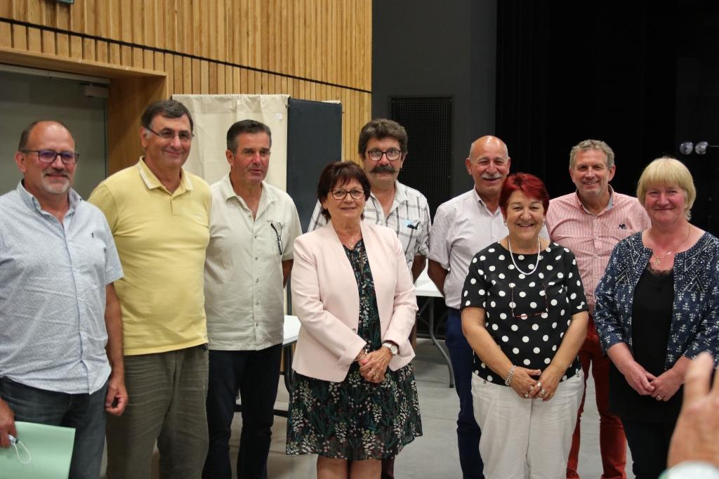 Marie Rose VEYSSIERE et les 8 vice-Présidents