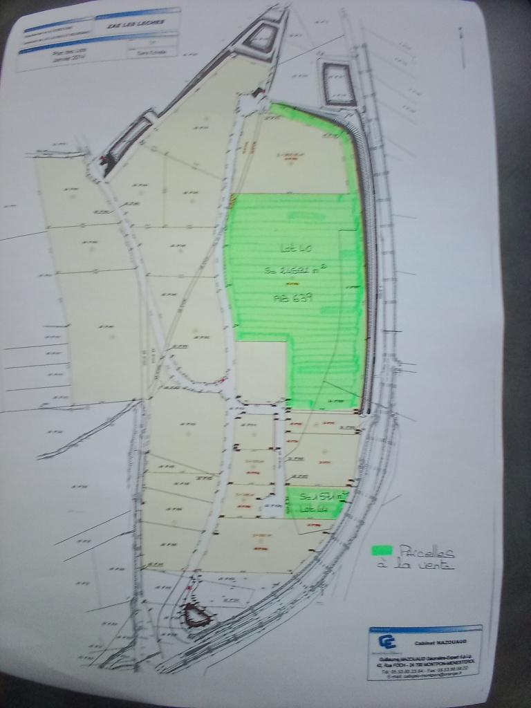 Plan des parcelles disponibles ZAE les Lèches