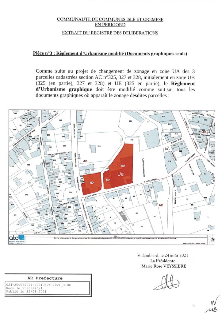 Modification simplifiée n°2 du PLU de Mussidan page 9